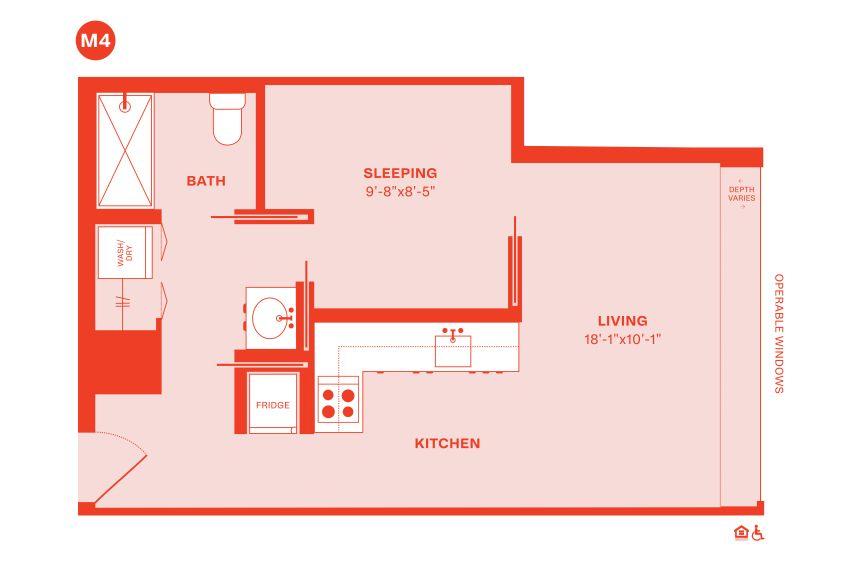 Example M floorplan