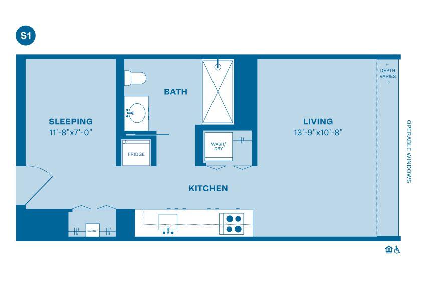 Example S floorplan