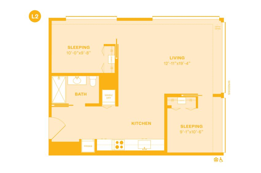 Example L floorplan