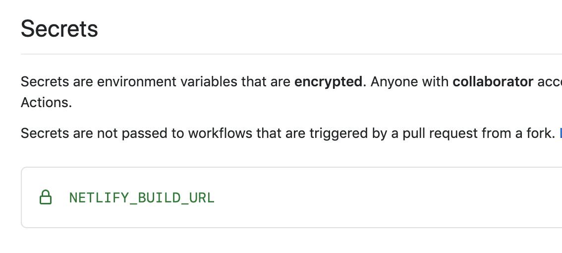 GitHub secret