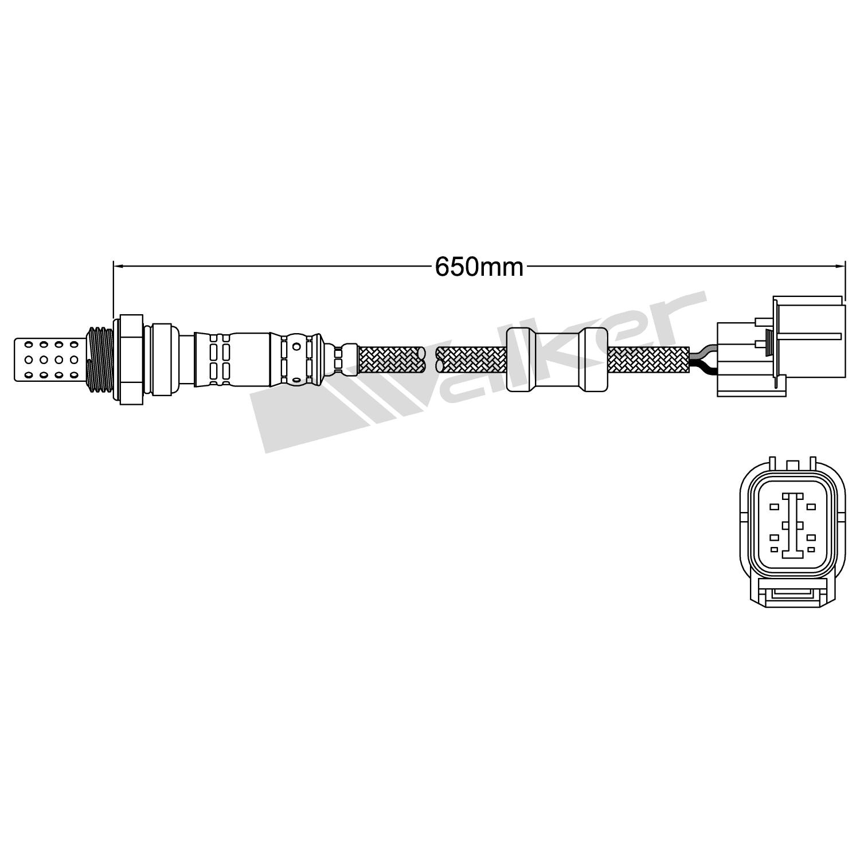 Walker Products 250-24391 4-Wire Oxygen Sensor