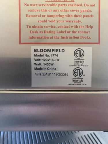 Filter Batch Brewers Bloomfield ECO Brewer No. 4774