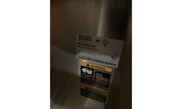 Filter Batch Brewers Bunn Dual® TF ThermoFresh® DBC® Stainless 120/240V with Funnel Locks 34600.0000