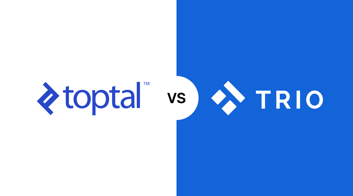 Toptal Alternatives: Comparing Toptal with Trio and Upwork