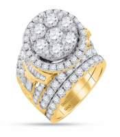 6 CTW Diamond Bridal Wedding Engagement Ring 14KT Yellow Gold
