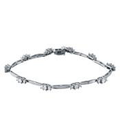 2.5 CTW Diamond Bracelet 14K White Gold