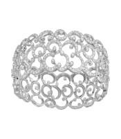 5.47 CTW Diamond Bangle 18K White Gold