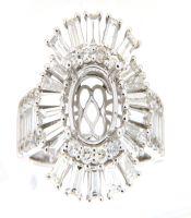 2.65 CTW Diamond Semi Mount Ring 14K White Gold