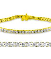 Natural 2ct VS-SI Diamond Tennis Bracelet 14K Yellow Gold