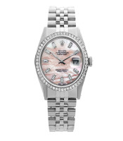 Rolex Pre-owned 36mm Mens Pink MOP Stainless Steel