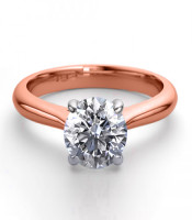 14K Rose Gold 1.41 ctw Natural Diamond Solitaire Ring