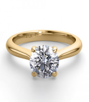 18K Yellow Gold 1.24 ctw Natural Diamond Solitaire Ring