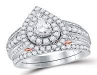 2.03 CTW Diamond Ring 14KT 2Tone Gold