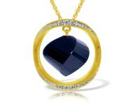 Genuine 15.35 ctw Sapphire & Diamond Necklace 14KT White Gold