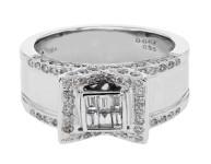 1.02 CTW Diamond Ring 18K White Gold