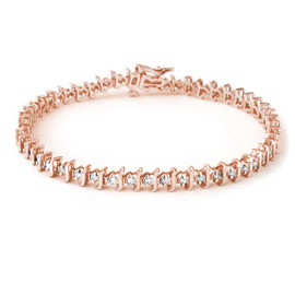 1.0 CTW Diamond Bracelet 18KT Rose Gold