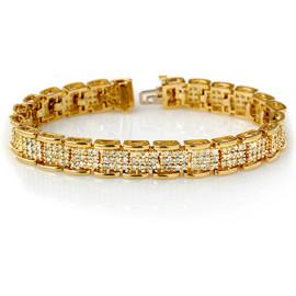 7 CTW Diamond Bracelet 14KT Yellow Gold