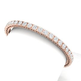 10 CTW Diamond Bracelet 18KT Rose Gold