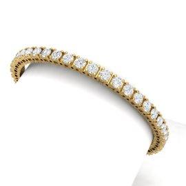 10 CTW Diamond Bracelet 18KT Yellow Gold