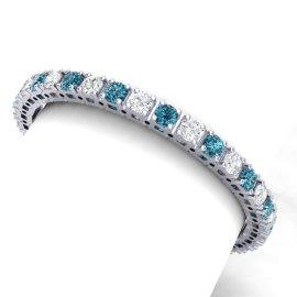 20 CTW Diamond Bracelet 18KT White Gold
