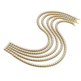 20 CTW Diamond Bracelet 18KT Yellow Gold