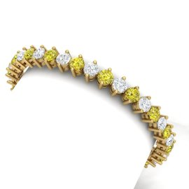 20 CTW Diamond Bracelet 18KT Yellow Gold