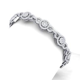 5 CTW Diamond Bracelet 18KT White Gold