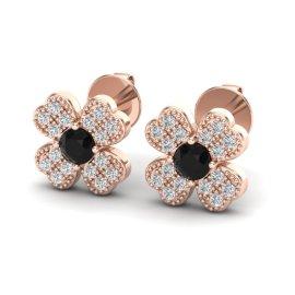 0.54 CTW Diamond Earrings 14KT Rose Gold