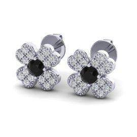 0.54 CTW Diamond Earrings 18KT White Gold