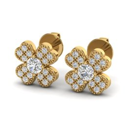 0.54 CTW Diamond Earrings 18KT Yellow Gold