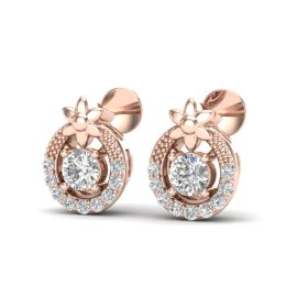0.40 CTW Diamond Earrings 14KT Rose Gold