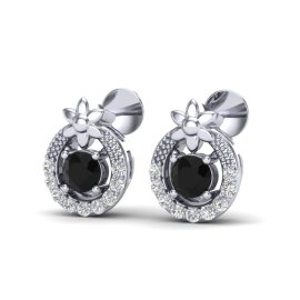 0.47 CTW Diamond Earrings 18KT White Gold