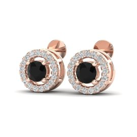 0.75 CTW Diamond Earrings 14KT Rose Gold
