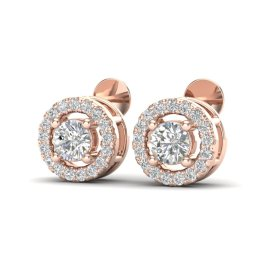 0.65 CTW Diamond Earrings 14KT Rose Gold