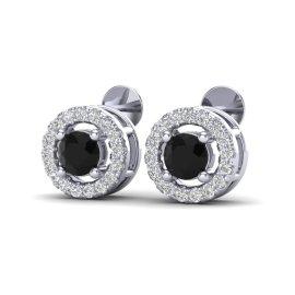 0.75 CTW Diamond Earrings 18KT White Gold