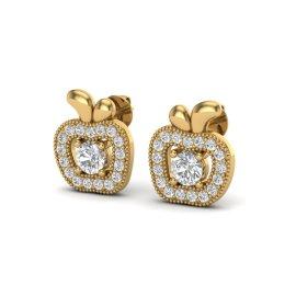 0.60 CTW Diamond Earrings 18KT Yellow Gold