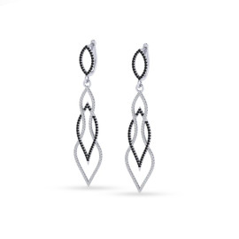 1.90 CTW Diamond Earrings 14KT White Gold