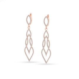 1.90 CTW Diamond Earrings 14KT Rose Gold