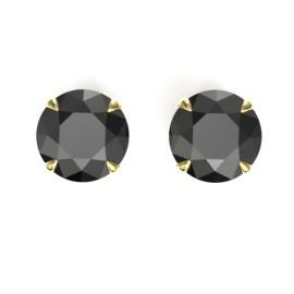 4 CTW Diamond Earrings 18KT Yellow Gold