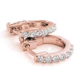 0.25 CTW Diamond Earrings 14KT Rose Gold