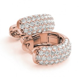 1.0 CTW Diamond Earrings 14KT Rose Gold