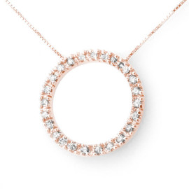 0.33 CTW Diamond Necklace 14KT Rose Gold
