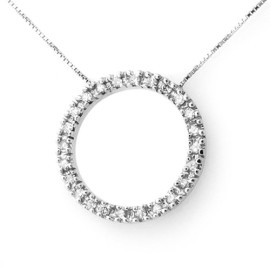 0.33 CTW Diamond Necklace 14KT White Gold