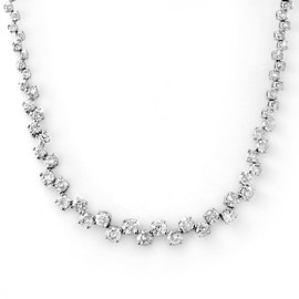 10 CTW Diamond Necklace 14KT White Gold