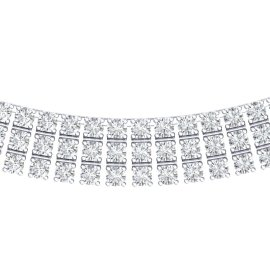 30 CTW Diamond Necklace 18KT White Gold