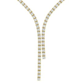 10 CTW Diamond Necklace 18KT Yellow Gold