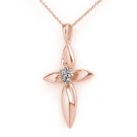 0.02 CTW Diamond Pendant 14KT Rose Gold