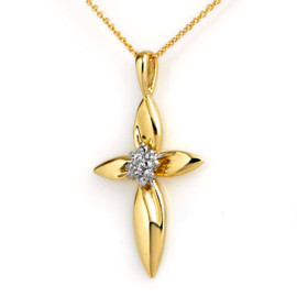 0.02 CTW Diamond Pendant 14KT Yellow Gold