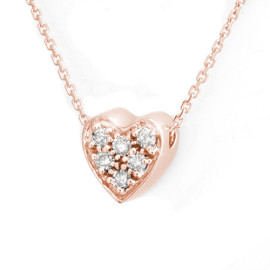 0.20 CTW Diamond Pendant 14KT Rose Gold