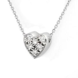 0.20 CTW Diamond Pendant 14KT White Gold